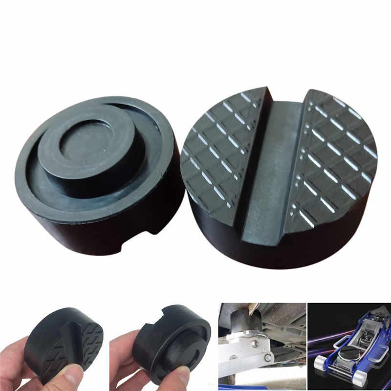 Plataforma de disco de goma para coche con plataforma de elevación de 6,5 cm, Marco para almohadilla protectora de gato de suelo, herramienta de adaptador de protección