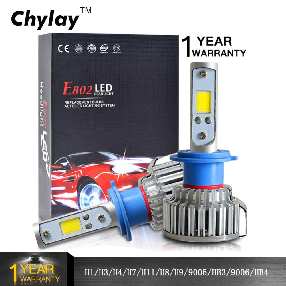 2pcs H1 LED H4 H7 H3 H11 H8 HB4 HB3 9005 9006 მსუბუქი ნათურების 50W 8000LM ავტომატური წინა ბოლქვის ავტომობილები Headlamp მანქანის შუქი