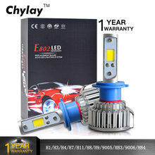 2pcs H1 LED H4 H7 H3 H11 H8 HB4 HB3 9005 9006 Car Headlight Bulbs 50W 8000LM Auto Front Bulb Automobiles Headlamp Car Light(China)