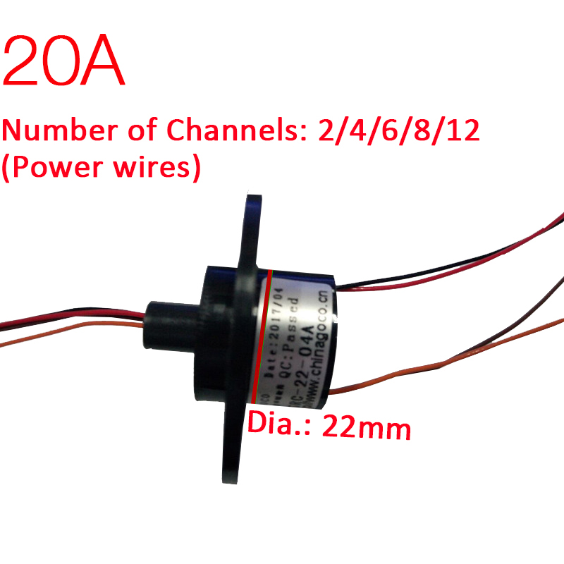 Slip Ring 22mm 2/ 3 Channel 20A Rotate Dining Table Slip Ring Electric Collector Rings Slip Ring Rotary Joint