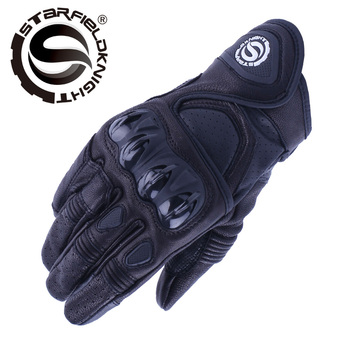 SFK motorcycle windproof gloves  real Leather Full Finger   Motorcycle Protective Gears Motocross Leather Gloves SKG-524