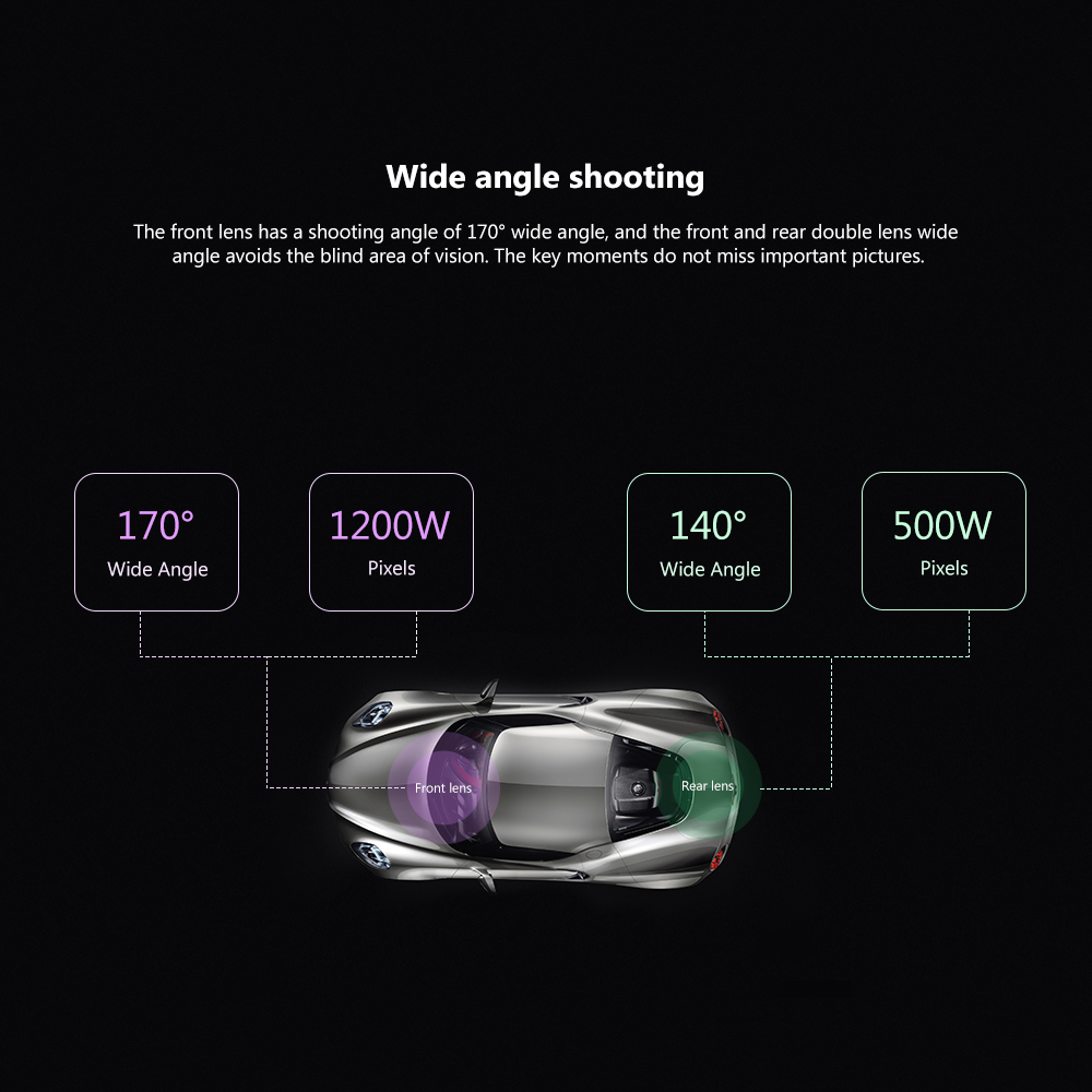 Image 5 - AOSHIKE 7 Inch Rearview Mirror Driving Recorder 1080P High Definition Night Vision Double Recording Reverse Driving  Car DVR-in DVR/Dash Camera from Automobiles & Motorcycles