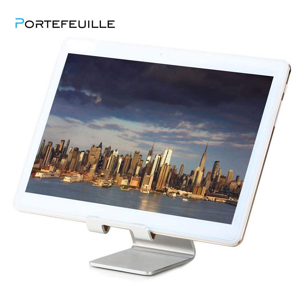 Portefeuille Aluminum Metal Phone Stand for Desk iPhone X 7 8 Plus 6S iPad Pro Xiaomi Mi Pad 4 Samsung Tablet Holder Accessories (1)