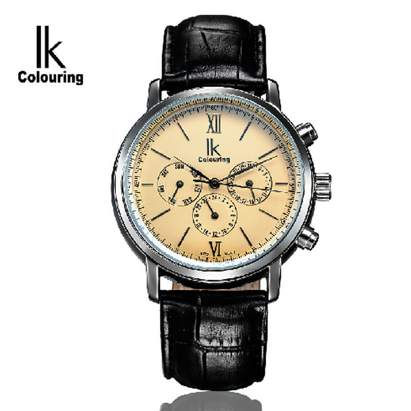 Ik multifunctional symphony for mens watch inveted double male fully automatic mechanical watch mens watch pair