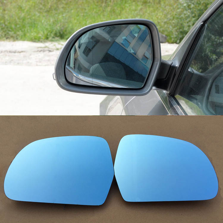 Ipoboo 2pcs New Power Heated w/Turn Signal Side View Mirror Blue Glasses For Skoda Superb