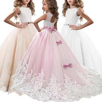 e10e8d4bea0c Nuevo 2019 disfraces de Carnaval flores niñas vestido de dama de honor  vestido de fiesta de