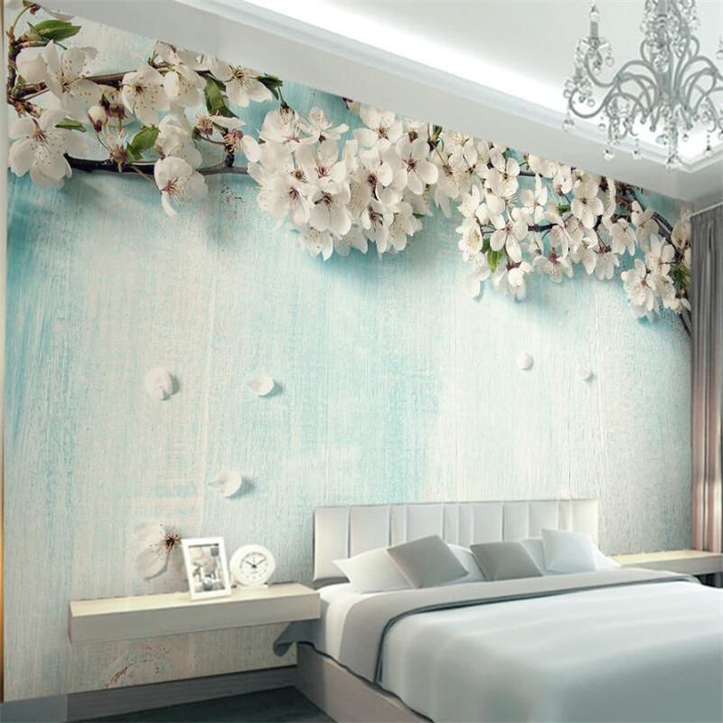 Home Improvement Ambitious Seamless Large Mural Wall Paper For Sofa Background Purple Dream Flower Cherry Tree 3d Photo Murals Wallpaper Papel Murals