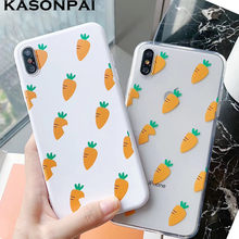Cute Carrot Phone Cases For iphone 8 7 6 6S Plus Coque Soft Clear TPU Funny Lovely Back Cover For iphone 11 Pro X XS Max XR Case(China)
