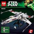 LEPIN 05039 Star Wars series rojo de cinco X-wing starfighter Modelo Building Blocks classic Compatible 10240 Juguetes para niños