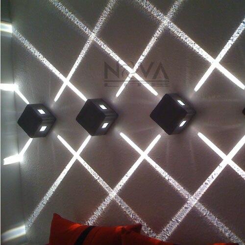 Us 17103 Ac85 Do Ac265v Wejście 4 Sztuk Za Dużo 4 Emisji Kinkiety ścienne Led Oświetlenie Elewacji Na świeżym Powietrzu Wąska Wiązka W Wewnętrzne