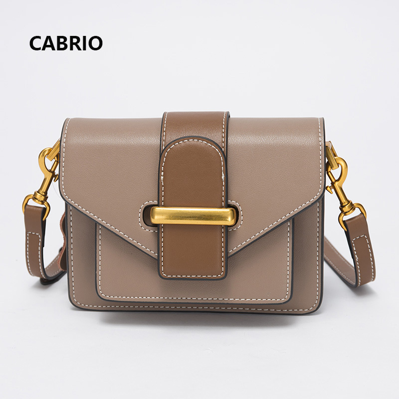 CABRIO Casual Women Crossbody bags Patchwork Genuine Leather Flap Small Messenger Bags For Ladies Women Clutch Bag Metal Button cabrio casual women crossbody bags patchwork genuine leather flap small messenger bags for ladies women clutch bag metal button