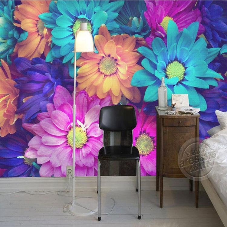 Charming Flowers Wall Mural 3D wallpaper Natural scenery Photo Wallpaper Painting Designer Art Room decor Bedroom Living room floral design