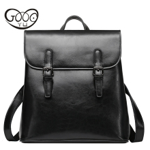 GOOG.YU Women Genuine Leather Backpacks Brand Ladies Fashion Backpacks For Teenagers Girls School Bags Real Leather Travel Bags luxury women backpacks famous brand genuine real leather black backpacks for teenagers girls school bag vintage mochila feminina