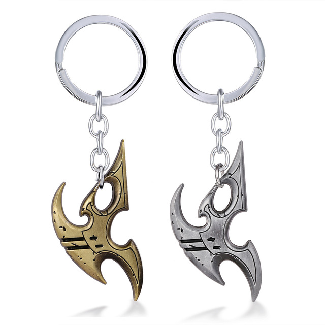 Movie Theme Game Jewelry Starcraft II 2 Keychain Wings of Liberty Terran Zerg Protoss Figure Symbol Key Chain Key Holder