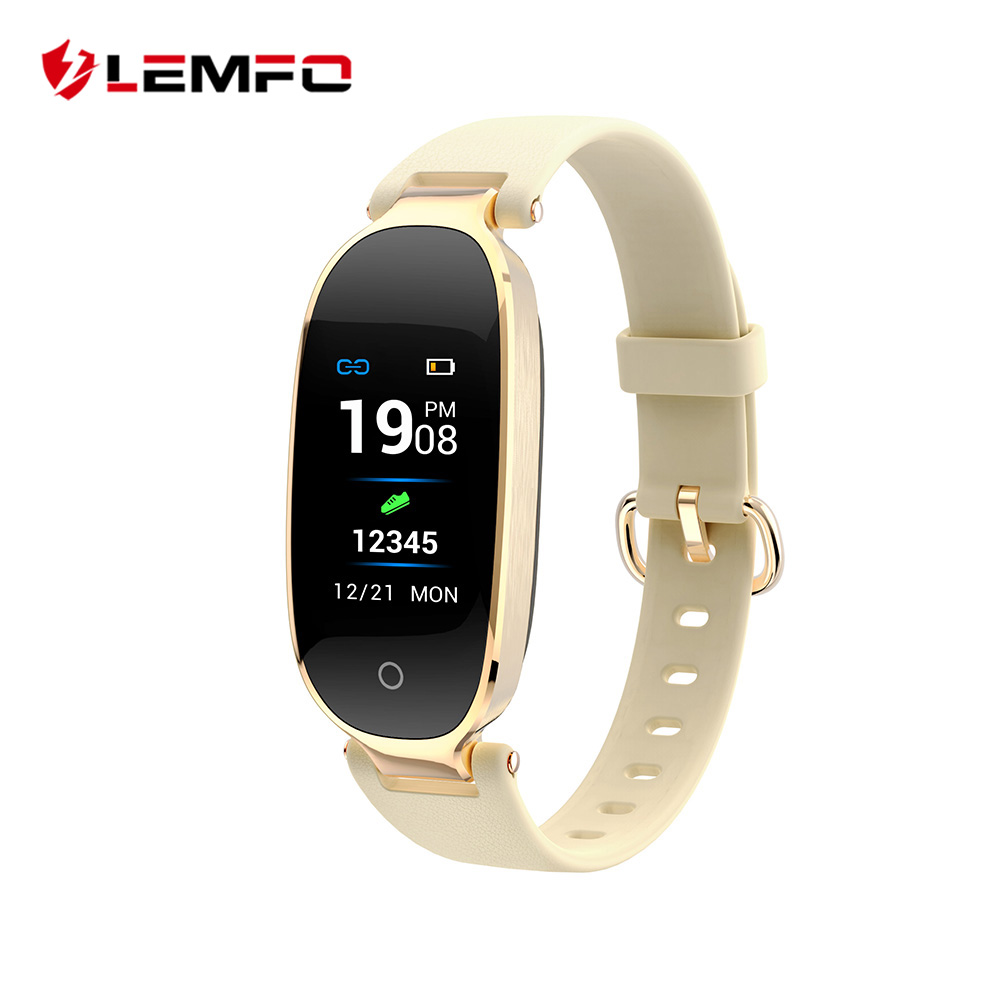 LEMFO nuevo S3 Color pantalla Smart Wristbands mujeres reloj pulsera Fitness Monitor de ritmo cardíaco regalo para dama para IOS Android teléfono