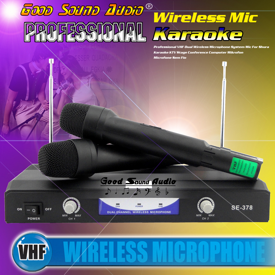 Professional Wireless Microphone System Vocal Dual Handheld Cordless Mic With Receiver For Karaoke Home Party Stage KTV Singing hot uhf ut4 type dual wireless microphone mic system cordless 2 mic audio karaoke party ktv dj black