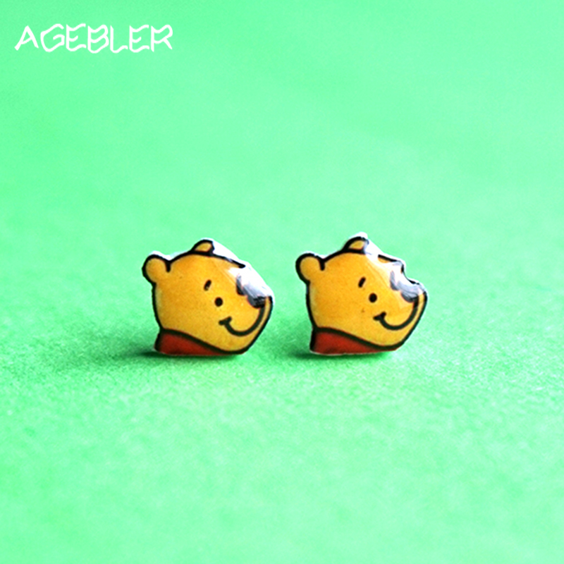 Indah Winnie the Pooh Stud Earring Wanita 925 Sterling Silver Ear Clip  Anting Brinco Kecil Anime Gadis Fashion Perhiasan di Stud Earrings dari  Perhiasan ... d5ed01a47e