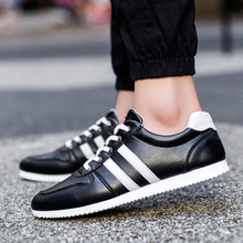 2017 New Spring And Autumn Men Shoes Flats Canvas Lace-Up Black/White Casual Zapatos Patchwork Hombre Men Shoes