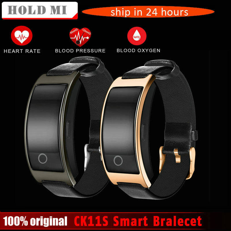 CK11S Smart Bluetooth Bralecet Blood Pressure Heart Rate Monitor Wrist Watch Fitness Bracelet Tracker Pedometer Wristband