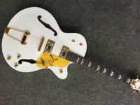 Free shipping New Arrival G L 5 L5 Jazz guitar F Semi Hollow white color jazz Electric guitar