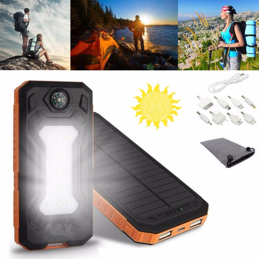 Cewaal Solar Power Bank Dual USB Charger Battery 300000mAh Waterproof External Portable Outdoor Travelling Powerbank Accessories какую машину до 300000 рублей в муроме