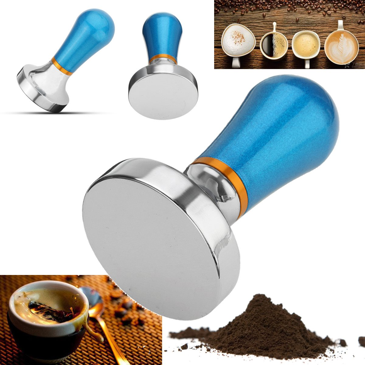 New Arrival Nespresso Filling Capsules Pressure Coffee Powder Tamper Hammer Aluminum Pressure Bar Kitchen Dining Coffee