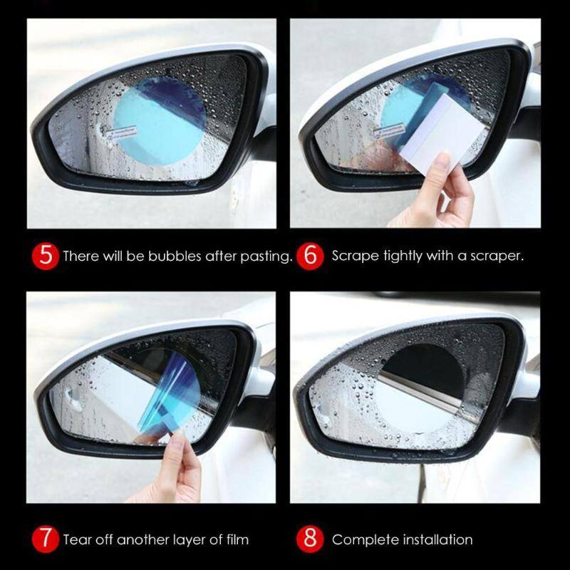 Image 2 - 2pcs Car Rearview Mirror Waterproof Anti Fog Rain Proof Film Side Window Film 100% High Quality New Guarantee Light Blue-in Mirror & Covers from Automobiles & Motorcycles