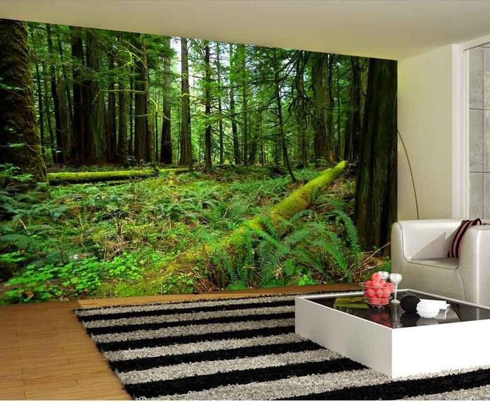 3d room wallpaper custom mural non-woven  wall sticker 3 d The primeval forest mural  painting photo wallpaper for walls 3d 3d room wallpaer custom mural non woven photo natural scenery forest trees painting 3d wall murals wallpaper for walls 3d