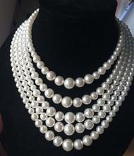 Новое прибытие европейского серебряного имитационного жемчуга многослойного ожерелья с ожерельем большого симулированного жемчужного ожерелья