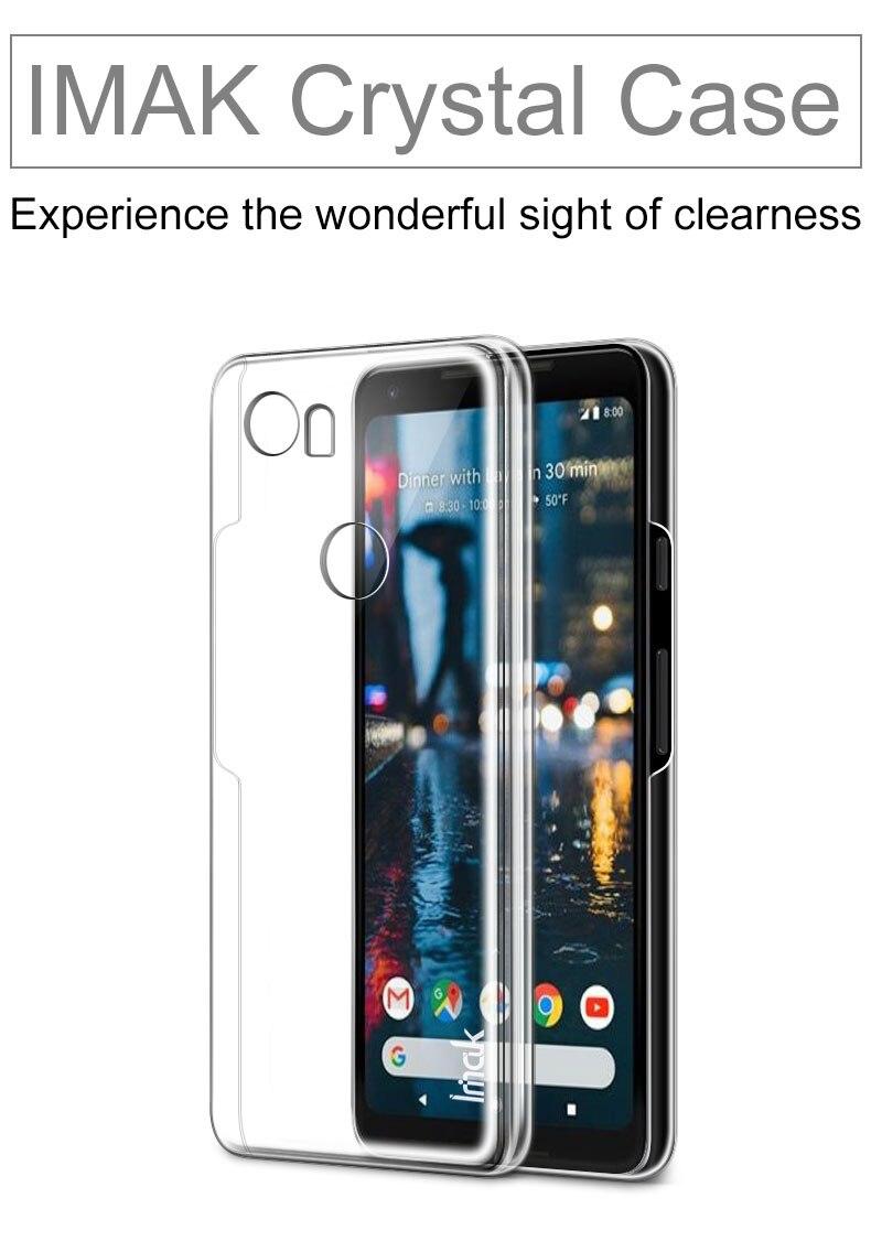 iMAK Wear Resistant Transparent Crystal Hard Phone Case for Google Pixel2 case Bumper For Google Pixel 2 Case