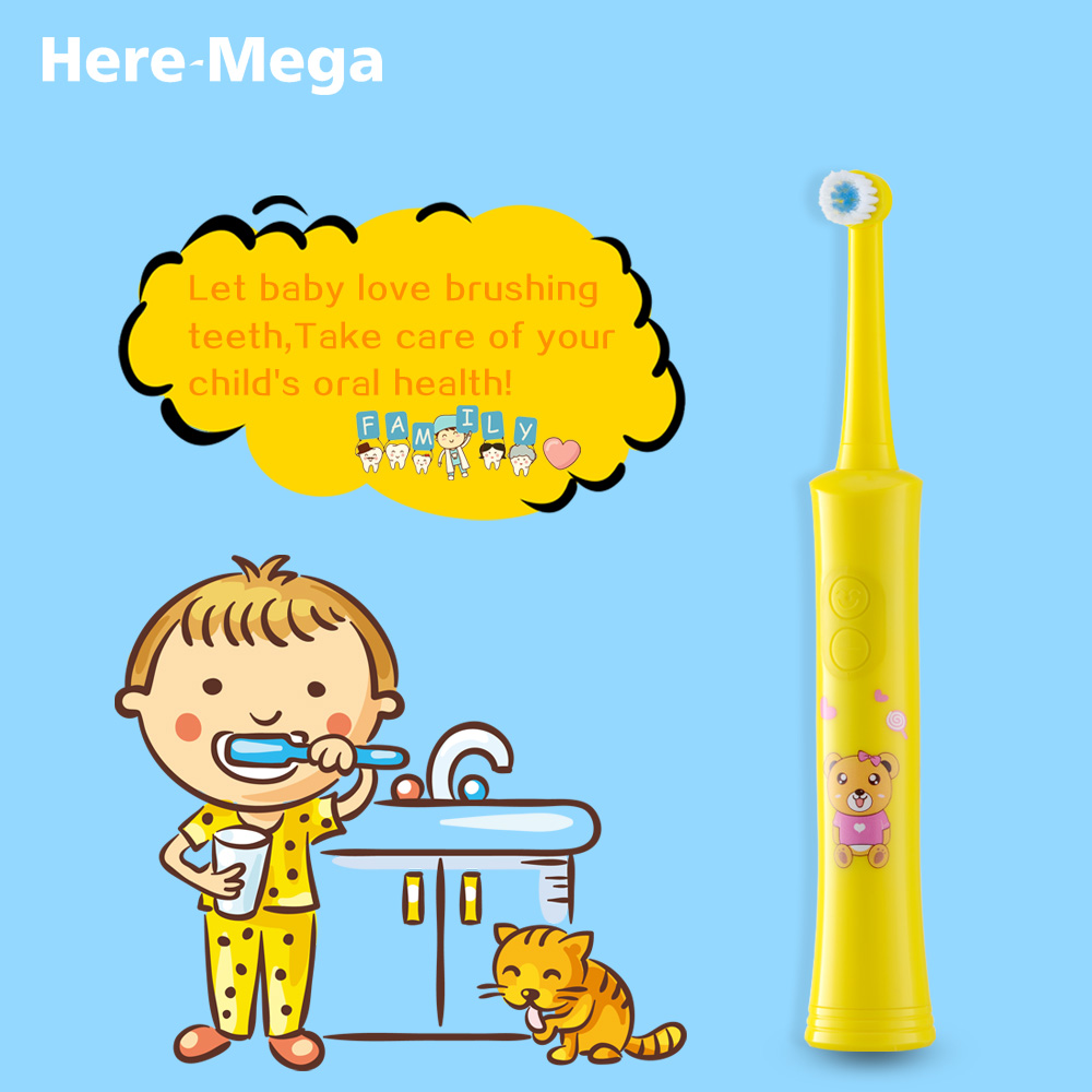 HERE MEGA Rotating Children Electric Toothbrush Tooth Brush Teeth  Electric Toothbrush Rechargeable Hygiene Dental Care R01