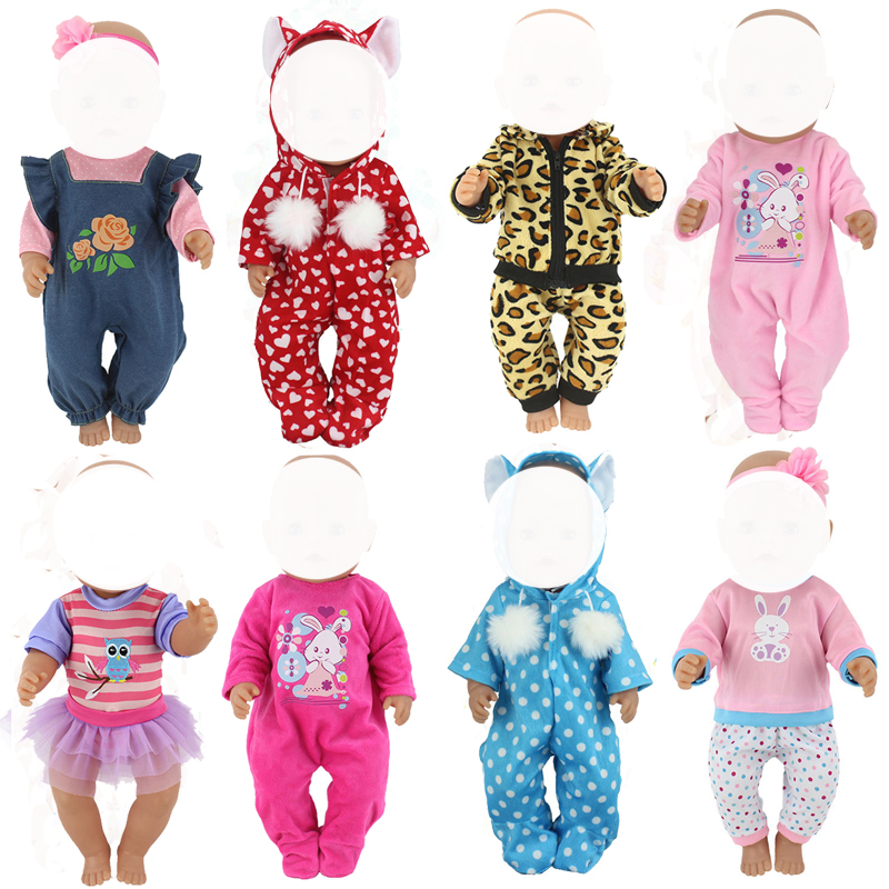 Doll Clothes for 18 inch  baby dolls clothes Coverall for 40cm 43cm reborn doll rompers accessories baby girl toys slipper