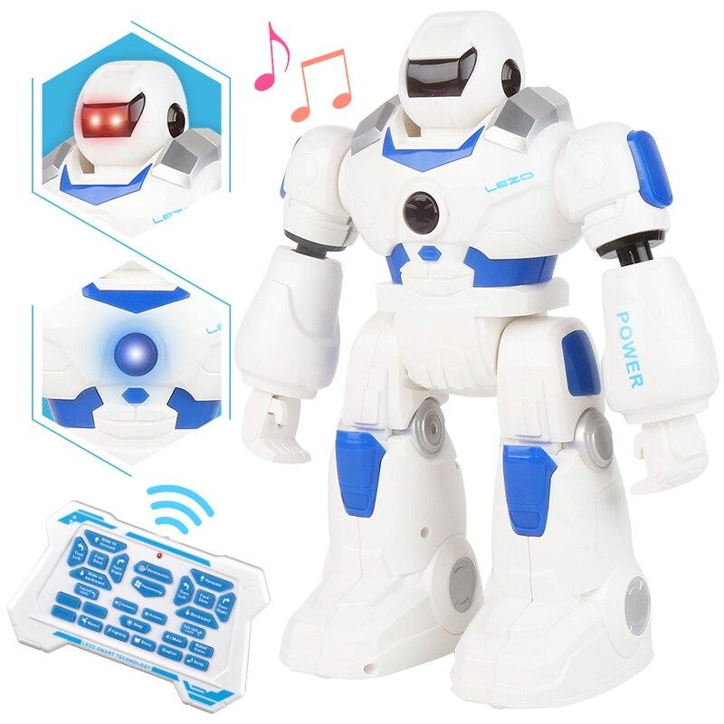 Fonction amusante Robot danse chantant Action Figure contrôle télécommande Robot avec lumière jouet garçon enfant jouets d'anniversaire cadeau