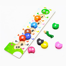 Wooden Rainbow Number Block stringing beaded Toys For Children Learning & Education Colorful Products Kids Toy