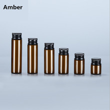 5ml 10ml 20ml mini amber glass bottle,Empty vials bottle oil refillable bottle,essential bottles with lid
