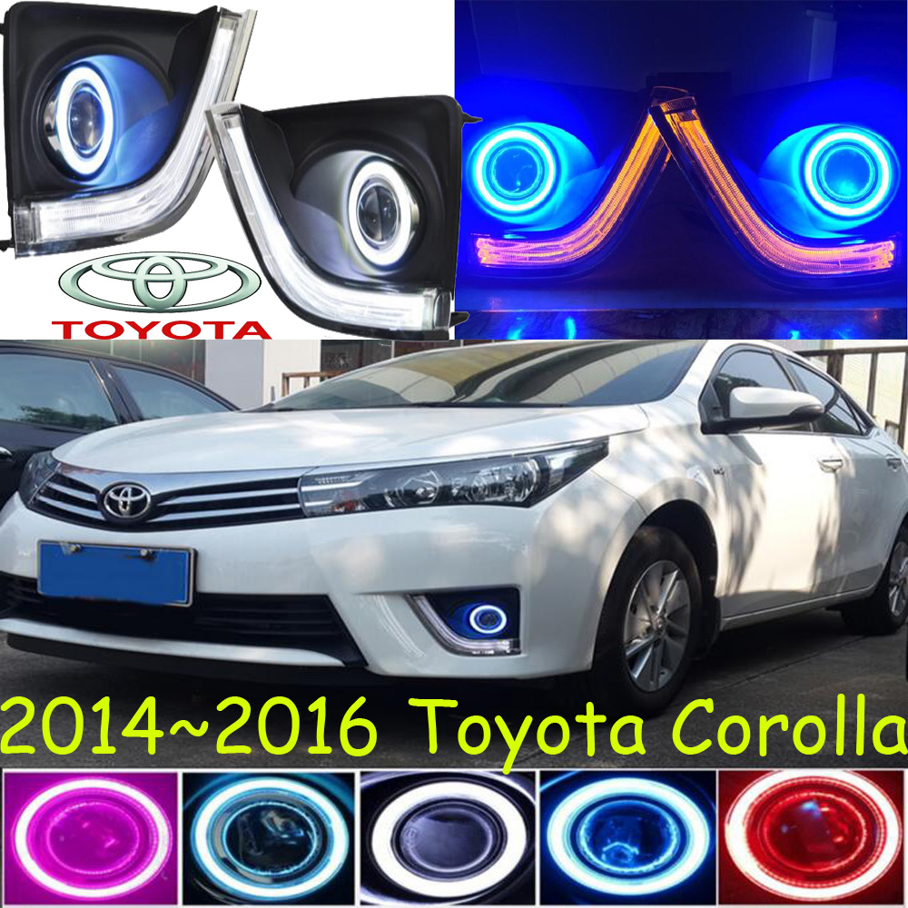 Car-styling,corolla LED fog lamp,2014~2016,chrome,Free ship!2pcs,corolla head light,car-covers,Halogen/HID+Ballast;corolla special car trunk mats for toyota all models corolla camry rav4 auris prius yalis avensis 2014 accessories car styling auto
