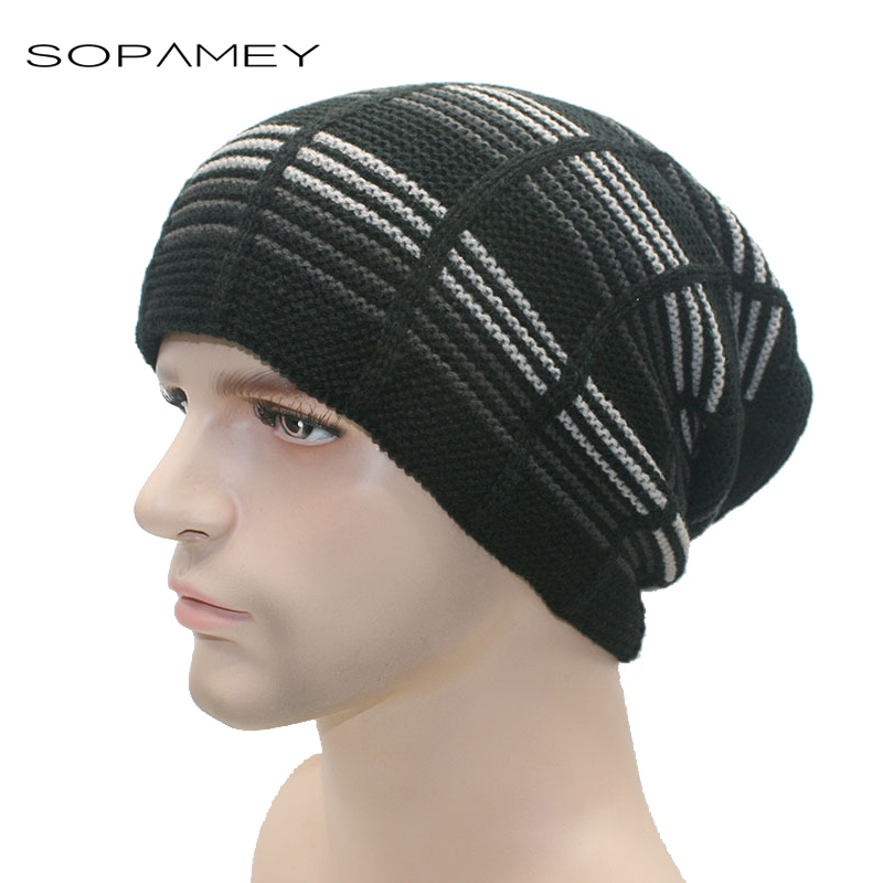 Unisex Beanies Winter Hats Beanie Men Women Hat Beanies Knitted Hiphop Hat male Female Plus velvet thick warm Caps 2017 New new winter beanies solid color hat unisex warm grid outdoor beanie knitted cap hats knitted gorro caps for men women