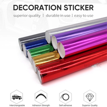 Vinyl Film Car Silver Plating Wrapping Film Sticker Decal Sheet