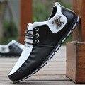 Marca de moda de Los Hombres Zapatos Casuales Zapatos de Los Planos de Cuero de LA PU Otoño Transpirable Zapatos de Los Hombres Zapatos Hombre