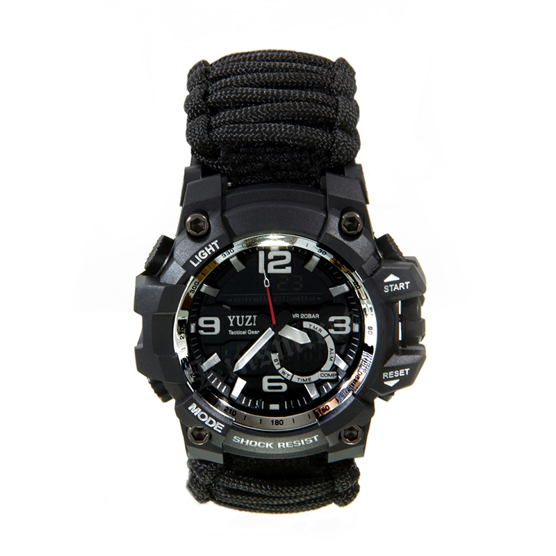 Image 3 - Multifunctional Outdoor Survival kit EDC Camping Safety Equipment  Rescue Rope Bracelet Safety Paracord Watch Compass-in Safety & Survival from Sports & Entertainment