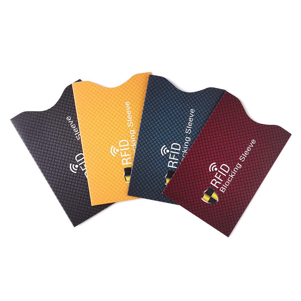 5PCS/Lot Anti Theft For RFID Credit Card Protector Blocking Cardholder Sleeve Skin Case Covers Protection Bank Card Case