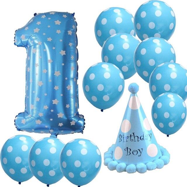 Us 7 99 1 Jahr Geburtstag Party Luftballons Für Baby Ballons Dekoration Geburtstag Baby Dusche Luftballons Luft Bälle In 1 Jahr Geburtstag Party
