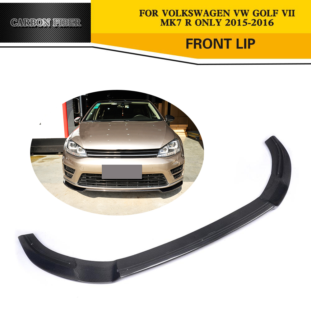 Carbon Fiber Car Styling Auto Front Lip Spoiler for VW Golf VII 7 R  Bumper Only 2015 2016