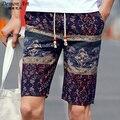 Brand Floral Beach Shorts Mens Sportswear 2017 Hot Sale Boardshorts Men Board Short Quick Bermuda Linen Shorts Size 5XL