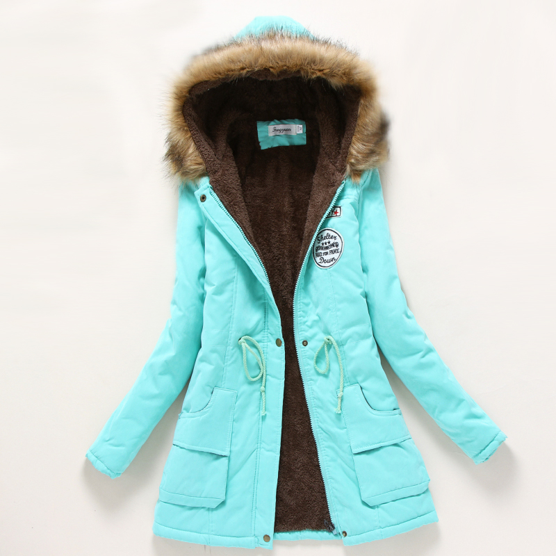 d8509527b US $16.79 |Winter Coat Women 2018 New Parka Casual Outwear Military Hooded  Thickening Cotton Coat Winter Jacket Women Fur Clothes CC001-in Parkas from  ...