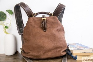 Image 1 - The new manual head layer cowhide backpack restoring ancient ways womens leather bags for women casual hand bag