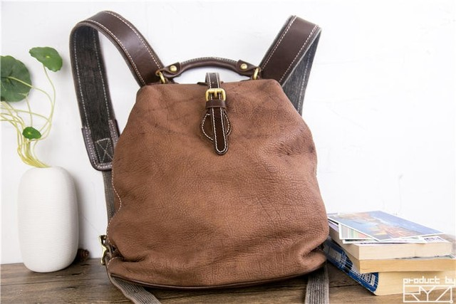 The new manual head layer cowhide backpack restoring ancient ways womens leather bags for women casual hand bag
