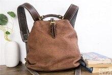 Yeni manuel kafa katman dana sırt çantası antik yollar geri kadın deri çanta kadınlar için rahat el çantası
