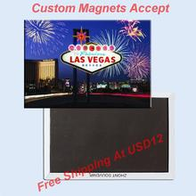 Free Shipping over $12, US Las Vegas Signal Rectangle Metal Fridge Magnet 5427 Tourism Souvenir