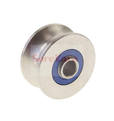8*36*17mm U Groove width 13mm Guide Pulley Sheave Sealed Rail Ball Bearing 2000pcs u nylon plastic embedded 608 groove ball bearings 8 30 10mm guide pulley by cdek